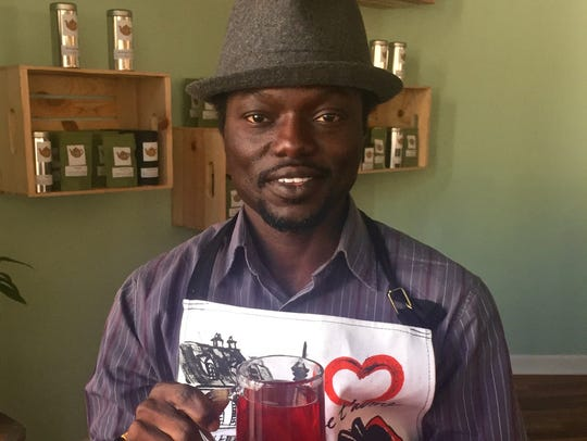 Stephen Bonsu opened his tea cafe and lounge on Oct.