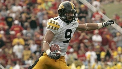 2009: Tyler Sash hauled in three interceptions as Iowa routed Iowa State 35-3 in Ames.