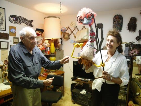 Jan Kaufman and her husband Roger Kaufman demonstrate