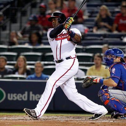 Sep 19, 2014; Atlanta, GA, USA; Atlanta Braves left