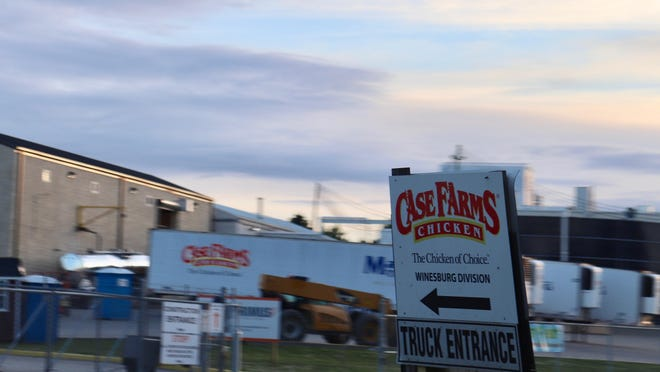 The outbreak at Case Farms' Winesburg chicken processing plant, in the heart of Holmes County's Amish Country, is linked to 81 cases of the coronavirus -- second in the region only to Case Farms' Canton plant.