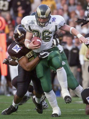 Running back Kevin McDougal, shown in the 1999 Liberty Bowl, is fourth on CSU's career rushing list, with 3,067 yards.
