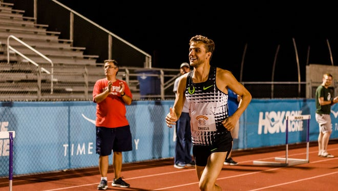 Former Ole Miss runner Craig Engels was one of three competitors who broke four minutes in last week's Murphey Mile at CBHS.