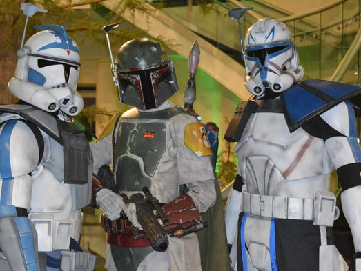 """Star Wars""  troopers make a grand entrance at the"
