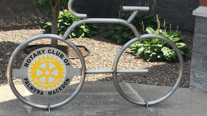 Pal-Mac Rotary provides a new bike rack for the Macedon Public Library.