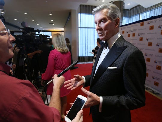 Ring announcer Michael Buffer walked the red carpet