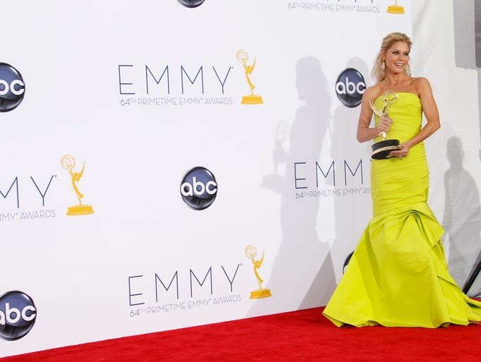 The Emmy Awards, airing Sept. 22, are the official kickoff for awards season, but what most of us really want to see are the dresses! That's why USA TODAY's Arienne Thompson has compiled the best Emmys dresses EVER, including this vibrant  Monique Lhuillier number that 'Modern Family' star JULIE BOWEN wore last year.