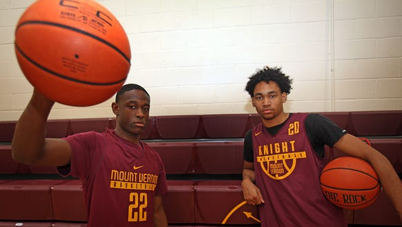 Mount Vernon seniors Jason Douglas-Stanley and Demetre