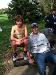 Jack Kohll, left, ran a cross-country race last fall but his dad, David, was the one in pain after the event. Muscle atrophy and cramping caused the elder Kohll great discomfort, making it difficult to attend his children's activities.