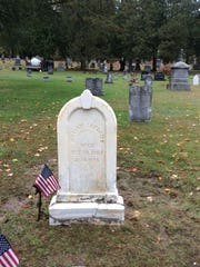The finished restoration of William Shedrick's monument at Greenwood Cemetery in Bristol.