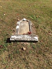 The original gravestone of Civil War veteran William Shedrick.