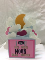 This 3-D card will put your valentine over the moon.