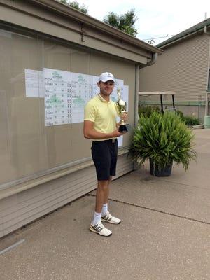 Mediapolis High School graduate Charles Jahn, a senior on the University of Iowa men's golf team, won the BGC Men's Championship Sunday with a 36-hole record 10-under-par 134.
