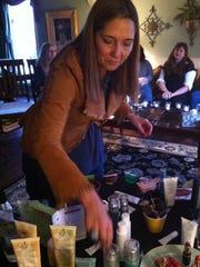 Aloette skincare rep Nancy Mooney of Pittsford sets