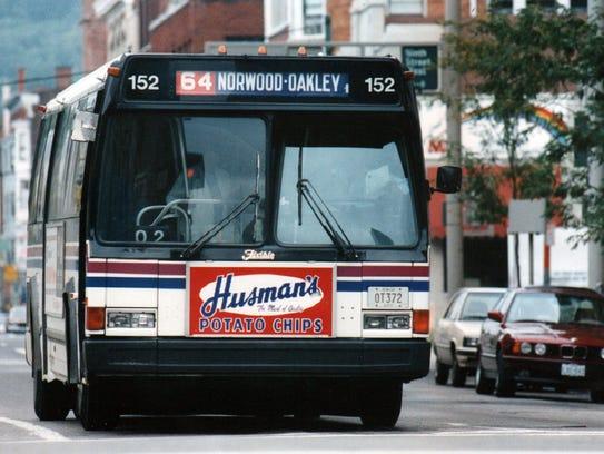 SEPTEMBER 1992: Metro bus, downtown Cincinnati. The