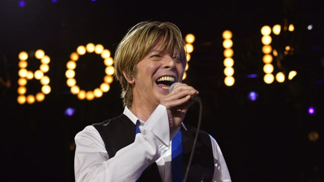 David Bowie at the PNC Bank Arts Center in Holmdel in 2002.