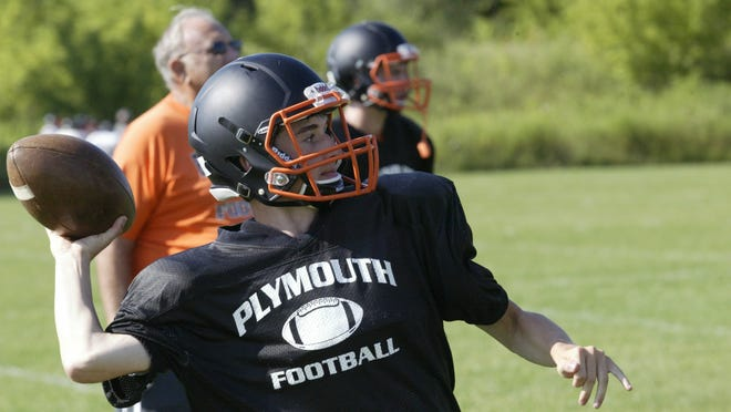 Senior Dominic Bocchini is competing to play quarterback at Plymouth this season.