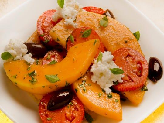 Cantaloupe-Tomato Salad