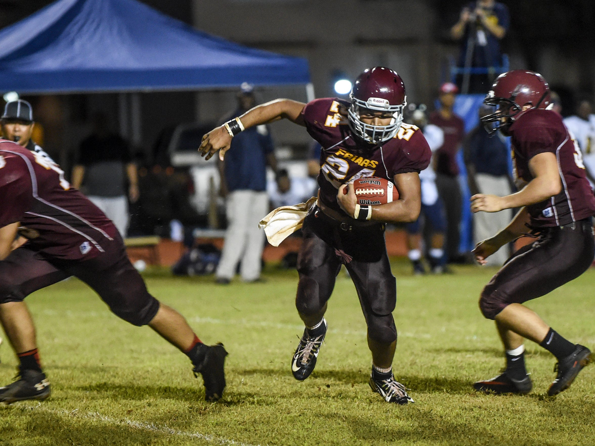 De'Aundre Cruz, running back for the Father Duenas Friars, is shown in this file photo.