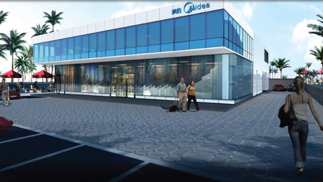 Ground will be broken Friday morning for a new appliance store in Tamuning, shown in this rendering.