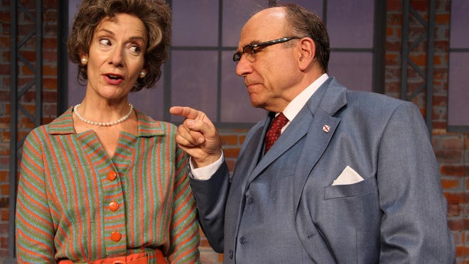 """Carmen Roman plays librarian Emily Wheelock Reed and Greg Vinkler is Sen. E.W. Higgins in Peninsula Players' Midwest premiere of """"Alabama Story."""""""