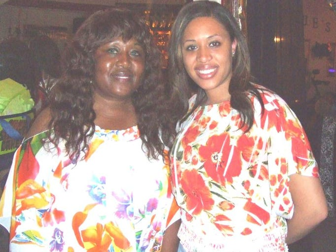 A birthday celebration was recently held for Peaches Hyatt (left). She is pictured with Dominique Hyatt. The party was held at Dominique's event facility in downtown Shreveport.