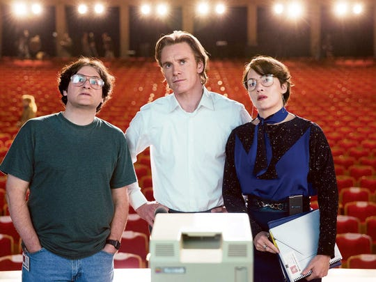 Michael Stuhlbarg, Michael Fassbender and Kate Winslet