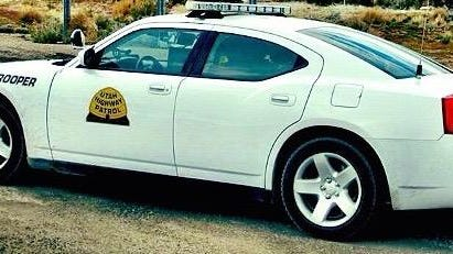 The Utah Highway Patrol reported two of its patrol troopers had their vehicles hit on Wednesday.