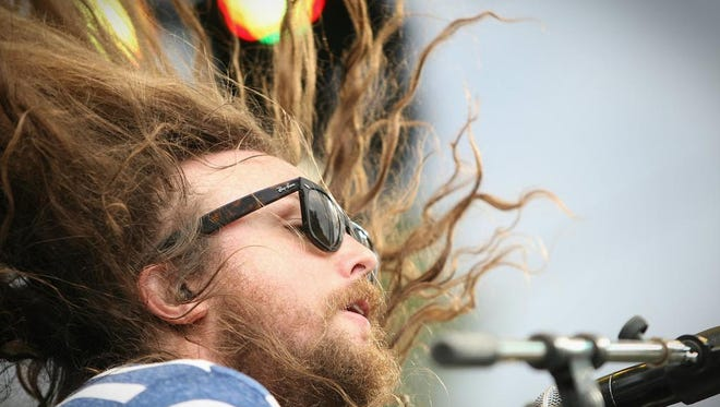 J Roddy Walston & The Business perform on the Backyard Stage at the inaugural Firefly Music Festival in 2012.