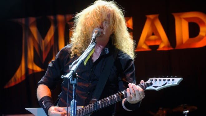 Megadeth, pictured here playing Ozzfest in Los Angeles last month, headlined the UW-Milwaukee Panther Arena Saturday.