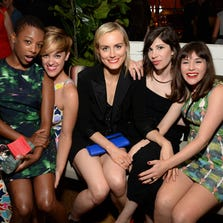Samira Wiley, Lauren Morelli, Taylor Schilling, Carrie Brownstein, and Yael Stone .