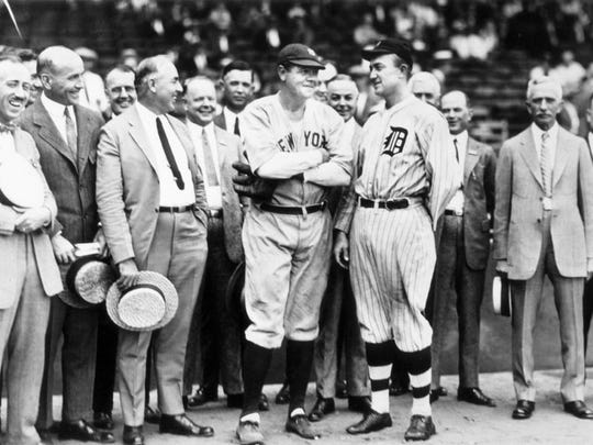 Ty Cobb with Babe Ruth.