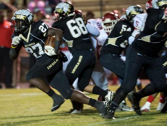 Wetumpka's Kavosiey Smoke leads the Indians' offense.