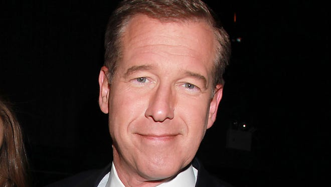 """NBC News' Brian Williams, at the premiere of the HBO original series """"Girls,"""" in New York on April 4, 2012."""
