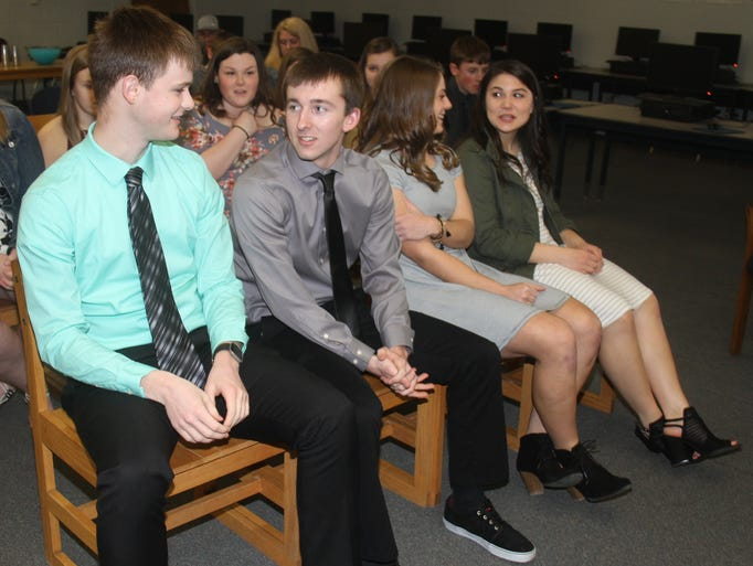 Iowa Valley High School National Honor Society induction
