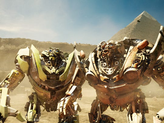 Skids and Mudflap in 'Transformers: Revenge of the Fallen.'