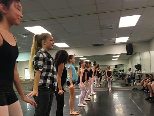 Fifty aspiring ballerinas who live along the Treasure