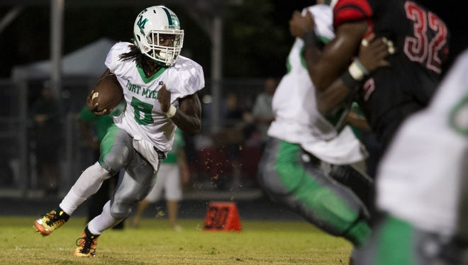 Fort Myers senior running back Darrian Felix's  x-rays on his injured elbow came back negative, but is suffering from a blood clot in the elbow. The timetable for his return is unclear.