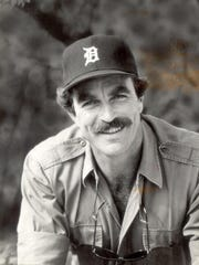 Tom Selleck, a Detroit native, wore a Tigers cap for