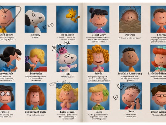 The 'Peanuts' yearbook with 'Peanuts' imposter Bryan