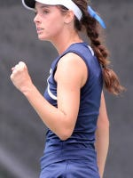 #21 Ole Miss Women's Tennis vs #15 Texas A&M on Sunday, March 29th, 2015 in Oxford, MS.