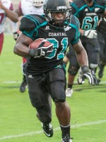Chants' running back DeAngelo Henderson rushed for 130 yards last weekend against South Carolina State.
