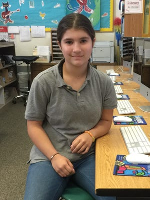 Amy Fruge, a Lumberton fifth-grader, placed third in the state in the Jr. Beta language arts contest and will receive an award.