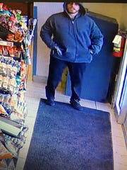 This is one of two men suspected of robbing a store in Prunedale Saturday.