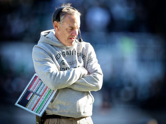 There have been plenty of down moments this season for Zanesville native and Michigan State coach Mark Dantonio, with his Spartans guaranteed of a losing season one year after winning the Big Ten and reaching the College Football Playoff.