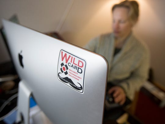 Lead artist Beth Jolin works at the Wildcard offices