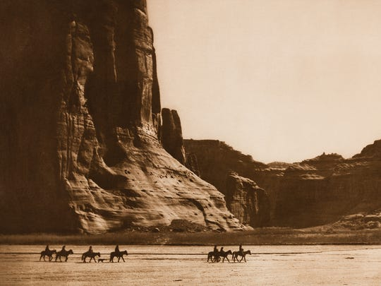 Ca–on De Chelly,  Navaho, 1904, Photogravure, The North American Indian, Volume 1 Portfolio, Plate 28 from photographer Edward Sheriff Curtis. It is on exhibit at the Muskegon Museum of Art through Sept. 10, 2017.