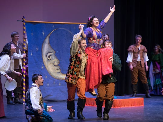 In this file photo from April 2018, Hanover Area High School performs an excerpt from The Hunchback of Notre Dame during Encore the York County High School Musical Theater Showcase.