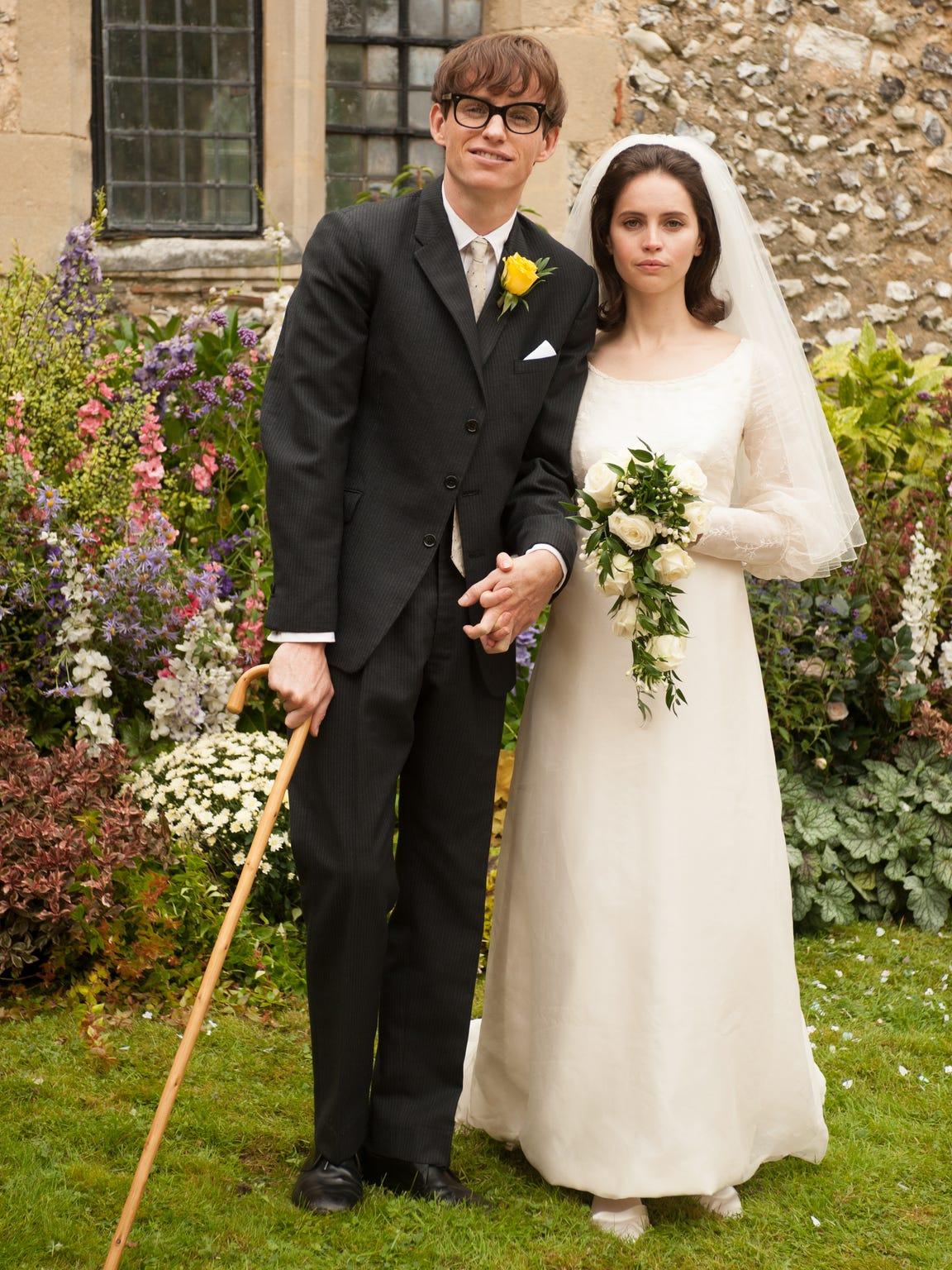 """Eddie Redmayne stars as Stephen Hawking and Felicity Jones stars as Jane Wilde in """"The Theory of Everything."""""""