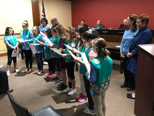 Girl Scout Troop#95383 join Mallory's Army
